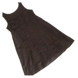 JCREW Brown Seersucker Cotton Sun Dress NWT 10 NEW